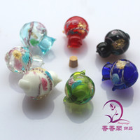 Wholesale Murano glass Essential Oil Bottle Necklace aromatherapynecklace glass fragrance bottle