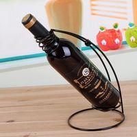 Wholesale Piece Wine bottle HOLDER Christmas Gift Creative arc wine rack color