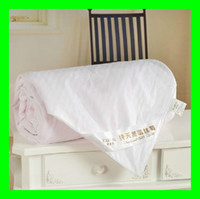 Wholesale Brand New Size cm kg silk filling light comforter color white and pink cotton cover