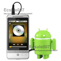 Wholesale HOT Super Cute Google Android Robot USB Mini Speaker For Iphone Ipad Touch Laptop Mixed Color