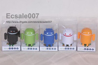 Wholesale NEW Super Cute Google Android Robot USB Mini Speaker For Iphone Ipad Touch Laptop Mixed Color