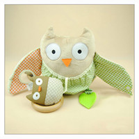 cloth doll - OWL plush Toy Animal style toys farms owl dog monkey desig baby doll baby baby rattle toy cloth doll
