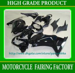 Black custom race fairing kit KAWASAKI Ninja 250R EX 250 2008 2009 2010 2011 EX250 08 09 10 11 RX3a