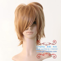 Wholesale New Light Brown Short Cosplay Full Wig Wigs Mesh Cap
