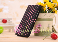 case bb - 100pcs Polka Dot Dots Wallet Leather Case Cover With Stand Holder For BlackBerry Z10 BB