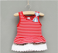 0-3year Summer Sleeveless kids dress baby cothes girl Navy wind bowknot sleeveless dress children jumper skirt summer wear