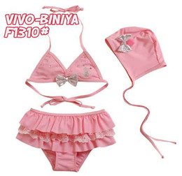 Wholesale 2013 New Arrival Separate swimwear for girls Girl s bow Swimsuit mini Bikini beachwear