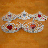 Wholesale hot sell christmas child birthday party gifts headdress princess rhinestone crown girl s head hoop