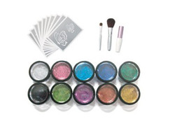 Wholesale new pc cute fashion colors temporary Glitter tattoo kit for body art paint