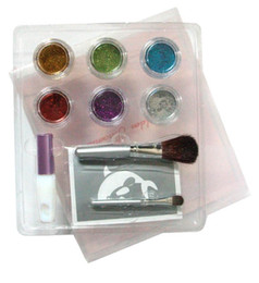 Wholesale new pc cute mini colors temporary Glitter tattoo kit for body art paint