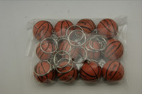 Wholesale 12 quot American Basketball Keychain Spalding Ball Keys Ring For Sports Fan