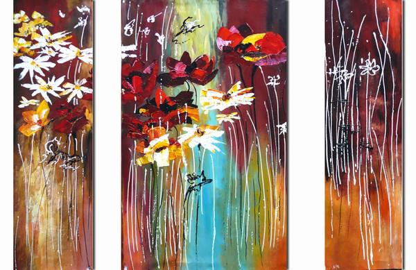Colorful Flowers Painting Colorful Flowers Art Oil