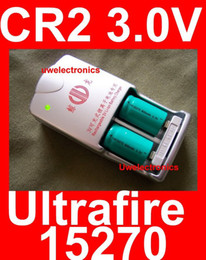 Wholesale UltraFire CR2 V led torch Battery w Charger laser battery gun rifle camera lithium lion battery cell