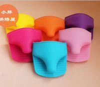 Wholesale Silicone Gloves Oven mitt Pot Holder Potholder Pliable Glove colorful x10 cm