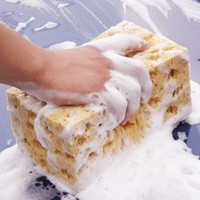 Wholesale Brand New Car Auto Washing Cleaning Yellow Cuboid Sponge Block Tool Hot E