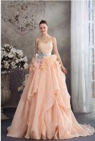 Sublime 2015 Prom Dresses A- Line Strapless Lace- up Floor- Len...