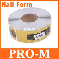 other other Nail Form 500pcs Golden Nail Form Art Tip Extension Forms for Acrylic UV Gel, Free shipping