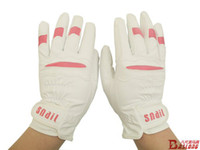 Wholesale White Soft PU Horse Racing Horse Riding Gloves