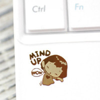 Wholesale 20000pcs lovely K gold plated iphone mobile phone anti radiation prevention stick sticker