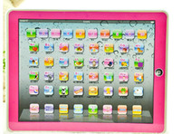 Wholesale 36pcs Y pad Table Learning Machine English Computer for Kids Children Educational Toys Music Led DHL