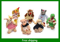 Wholesale Cartoon Animal DIY finger puppets Wooden joint dolls cute Rabbit kids Educational Toys
