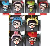 Cotton car pillow - New styles Cartoon neckguard pillow cute car pillow car headrest pillow inch Plush Toy