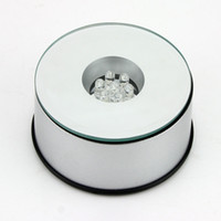 Wholesale Unique Rotating Crystal Display Base Stand LED Light