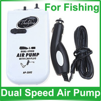 Wholesale Aerator Live Bait Fishing Transformer Two Way Dual speed Air Pump with Car Charger