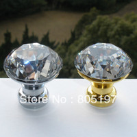 Wholesale Crystal kitchen cabinet door knobs Small Size