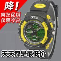 Cheap AUDI ots dual display cool mens watch waterproof sheet 50m submersible sports watch 185g