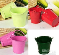 Wholesale Chocolate Candy Pail Mix Tin pails Mini Pails wedding favors mini bucket tin box favor box gift box