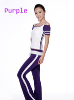 Wholesale Women yoga pants top suits for exercise ladies fitness wear for leisure life style
