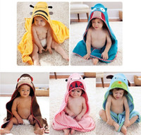 Wholesale Baby Toddler Animal Bathrobe Child Cartoon Hooded Bath Towel Kids Beach Swim Towel Cloak Mantle