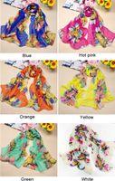 Wholesale 10 New arrivals Ladies Sun Flower Scarf Wrap Shawl Long Stole fx187