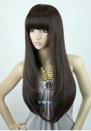 Wholesale Black New Style Womens Girls Sexy Long Fashion wavy Full Hair Wig