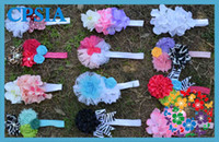 Wholesale new fashion flower foe headband vintage flower dazzle hair accessorie for babies DHL fre02