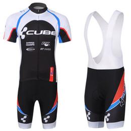 Venta al por mayor - 2013 equipo de CUBO pone en cortocircuito la camisa de ciclo con los pantalones del babero que completan un ciclo los juegos desde baberos ciclismo cubo fabricantes