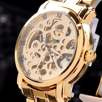 Wholesale 100 brand new MCE luxury watch hot selling Automatic Mechanical skeleton Watches with gold plated s
