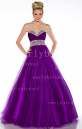 Wholesale 2013 Quinceanera Dresses Sweetheart Ruffles Crystals Sequins Tulles Red Purple Corset Prom Gown