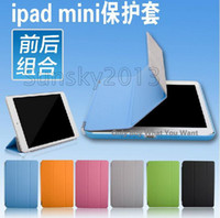 Mix plastic magnetic - Xmas Gift Folio Leather Smart Cover Wake Sleep Stand Magnetic Case For Apple iPad Mini Tablet PC Laptop