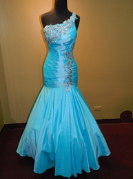 Wholesale PROM EVENING FORMAL PAGEANT SEXY GOWN ALLURE DRESS TURQUOISE FIT N FLARE WOW