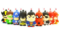 Wholesale super hero models Full GB USB flash drive stick Pen drive usb stick thumdrive