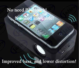 Wholesale new magic boose speaker COLORS Wireless induction Audio Interaction Amplifying Speaker DHL