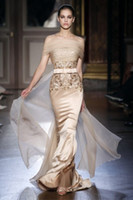 2013 Sexy Strapless Applique Sheath Formal Gown Zuhair Murad...