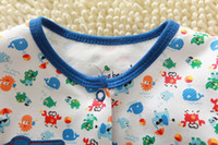 Halloween Boy Short Sleeve 2013 Infant Boy Summer Romper Deep Blue With Cartoon Pattern Printed For Kids Clothes 130310-104