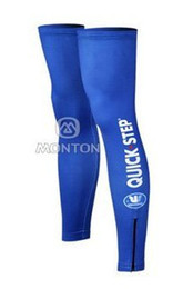 2012 QUICK STEP PRO TEAM BLUE Cycling Leg Warmers Sleeve Spandex Coolmax Lycra UV Protection Size:S-XXL