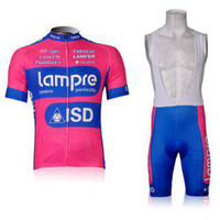 Wholesale Lampre ISD pink green Cycling Jersey BIB Short Set Cycle Wear Bike clothes Bicycle Short Wear