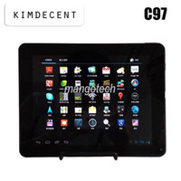 Wholesale New arrival Dual Core tablet pc inch IPS Screen Zenithink C97 Google Android ICS Amlogic