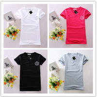 Women Cotton V_Neck Promotion!! Fashion lady Polo version T-shirt Sexy V-neck design 10pc lot free shipping