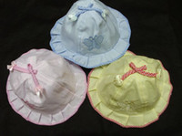 Wholesale Baby cotton newborn hats summer caps toddle sunbonnet sunhat baby butterfly caps